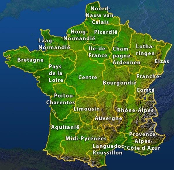 Regio s in Frankrijk