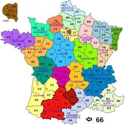Franse Departementen vakantie logeren bij belgen in frankrijk